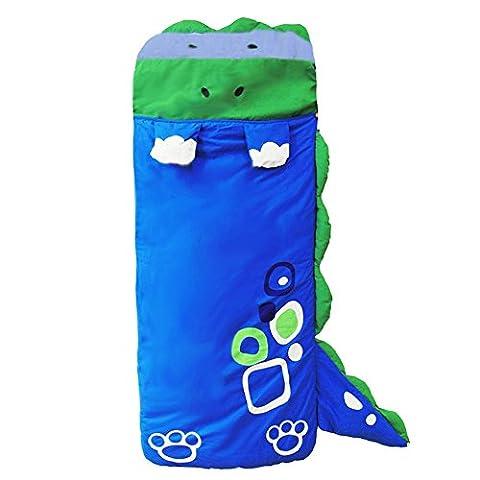 dingang® Big Cartoon Kinder Mädchen und Jungen Schlafsack Tabelle Slumber Tasche mit Kissen, 140* 60cm blau
