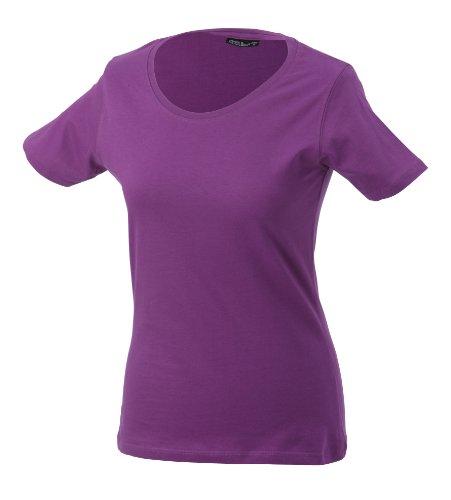 JAMES & NICHOLSON T-shirt Basic - T-shirt de Maternité - Femme Rouge (purple)