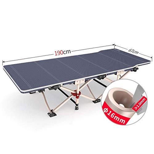 ZHzdc Falten Camping Schlafen Zusammenklappbare Tragbare Klappbett Metall Stahlrohrrahmen Mittagspause Einzelklappbett Tragbare Erwachsenen Klappliege - Metall-futon-matratze