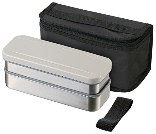 Patinage en Acier Inoxydable Boîte à Lunch en Deux étapes 740 ML Fin Lunch Box Cooler Sac avec Argent Kstpw7p