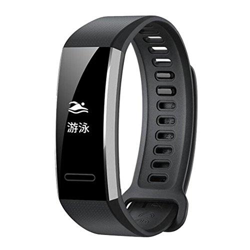 squarex Silikon Ersatz Band Wrist Strap für Huawei Band 2/Band 2Pro Smart Watch, Damen, Schwarz, AS Show