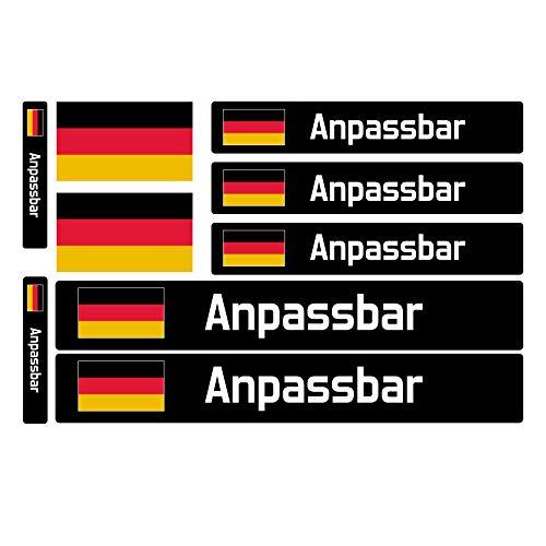 9 Motoking Fahrradaufkleber Name & Flagge, Benutzerdefinierte Aufkleber mit Flagge, für Fahrräder, Motorräder, Autos und andere Objekte.