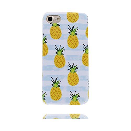 Custodia iPhone 7 Plus, iPhone 7 Plus copertura case in silicone TPU leggero sottile adatto Cover per iPhone 7 Plus 5.5 Inch- foglie di palma Fenicottero Ananas