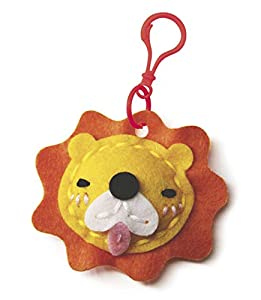 Mammut 163004 - Kit de Costura para niños a Partir de 5 años, diseño de león y Animales (Fieltro Troquelado, Relleno de algodón, Hilo, Aguja, Llavero, Instrucciones)