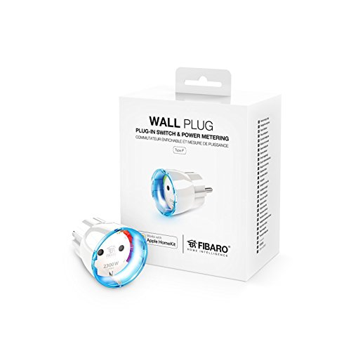 Fibaro HomeKit Enabled Wall Plug/Presa a Muro Type F, FGBWHWPF-102