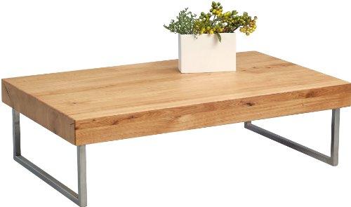 HomeTrends4You 265822 Couchtisch, 120 x 35 x 75 cm, Wildeiche massiv geölt (Kirsche Massivholz Tisch)
