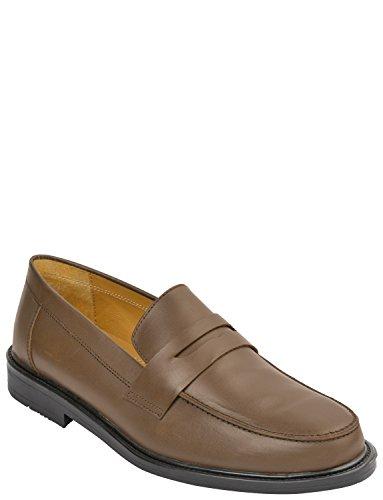 Chaussure De Penny Loafer De Hommes En Cuir Marron