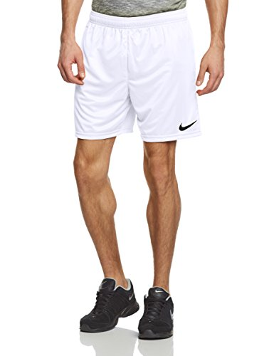 Dri-fit Basketball Short (Nike Herren Shorts Park II Knit ohne Innenslip, Weiß (White/Black), Gr. S, 448224-100)