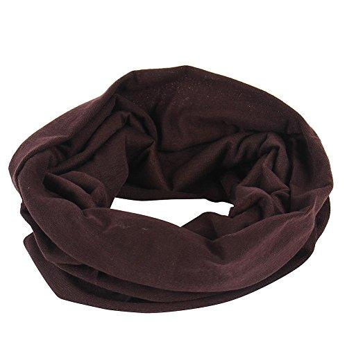 Braunes leichtes Schlauchtuch Multifunktionstuch Halstuch Multischal Schlauchschal