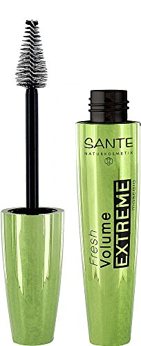 Sante Natural cosmético Fresh Volume Extreme Mascara, Negro, máximo volumen, densidad & perfecto Railes wimpern Vegano, 10ml