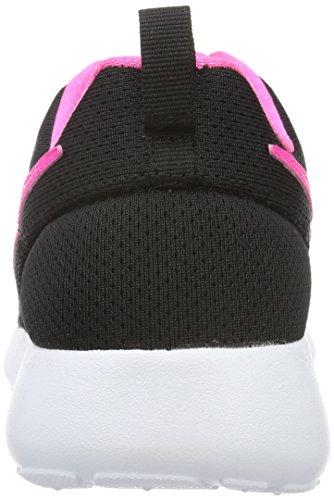 Nike Roshe One (GS), Chaussures de Running Garçon, Noir (Black/Classic Green/White/Varsity Red) Schwarz (014 BLACK/PINK BLAST-WHITE)
