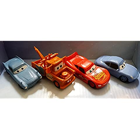 Disney Pixar Cars 2 Cake Toppers Set of 4 Figurines by Disney