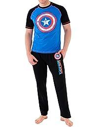 Marvel - Pijama para Hombre - Avengers Capitán América
