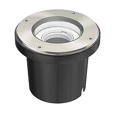 ledscom.de Bodeneinbaustrahler BOS für außen schwenkbar Edelstahl rund IP67 150mm Ø ohne Leuchtmittel