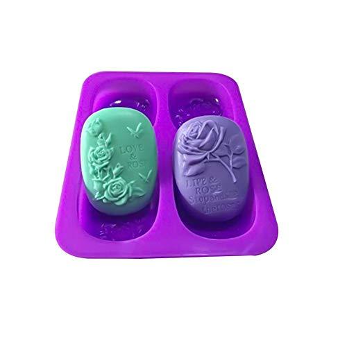 Silikonform für die Seifenherstellung Kuchen verzieren Liebe Rose Schmetterling Muster Pudding Silikonform