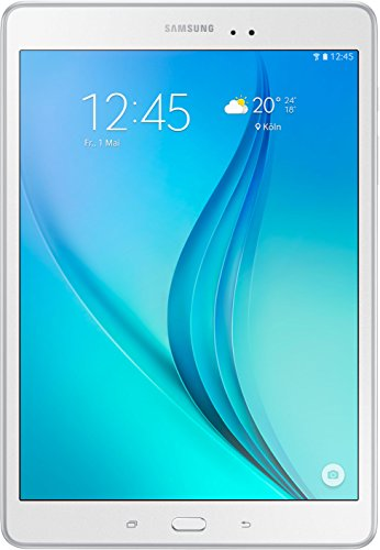 Samsung Galaxy Tab A T550N 24,6 cm (9,7 Zoll) WiFi Tablet-PC (Quad-Core, 1,2 GHz, 16 GB, Android 5.0) weiß (Samsung Galaxy 9-zoll-tablet-fall)