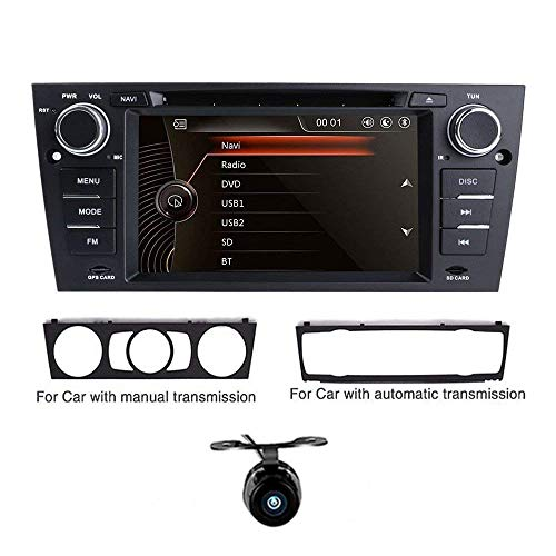 freeauto Auto DVD Player GPS 17,8 cm BMW Original UI 1080P Kapazitive Touchscreen Auto Stereo-INDASH DVD player mit GPS Navigation Canbus für BMW 3 Serie E90 E91 E92 E93 (Dvd-player In Dash)