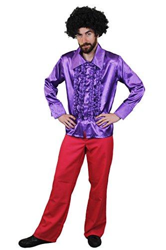 ILOVEFANCYDRESS Disco Hemd=DAS PERFEKTE KOSTÜM Boogie Night VERKLEIDUNG = KOSTÜM DER 70s iger Jahre= ERHALTBAR IN 6 Farben UND 5 GRÖßEN UND DIE Hose IN 4 Farben UND 3 GRÖßEN - Dirty Hippie Kostüm