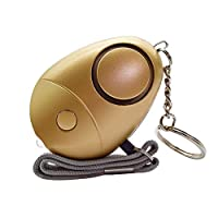 Tianzhiyi Smart home Personal Security Alarm Keychain Emergency Self-Defense Security Alarm For Women Kids Elderly Girls Explorer (Color : Gold)