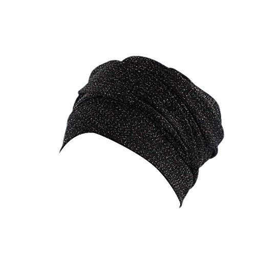 Auiyut Damen Indien Muslimischer Hut Beanie Mütze Kopfbedeckung komfortable Stretch Turban Sommer Muslim Kopftuch Turban Skull Cap Krebs Cap für Haarverlust Chemo Cap (Muslim-skull-cap)
