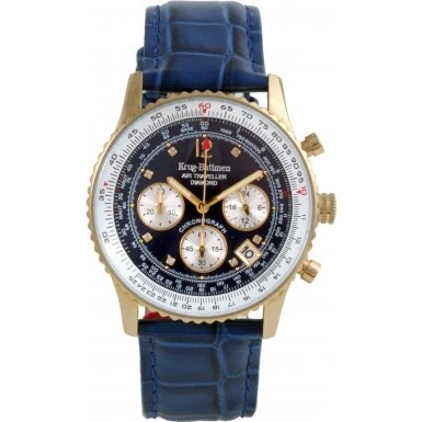 krug-baumen-400207ds-air-traveller-blue-dial-blue-strap