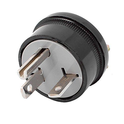 DealMux LK7003 AC 250V 20A US-Stecker Gerade Klinge Industrial Grade Erdung Schwarz T Typ 3P -