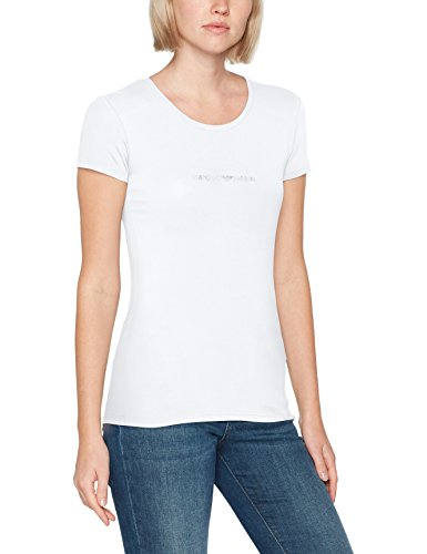 Emporio Armani Damen T-Shirt 163320CC317, Weiß (Bianco 00010), Medium