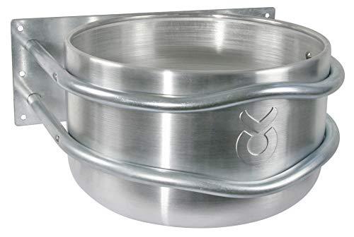 Kerbl 32495 Futtertrog Aluminium, ca. 18 l, mit Ablauf