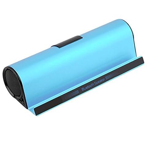 Tsing Enceinte Bluetooth Portable avec Support Haut-Parleur sans Fil Pour IPhone 6, 5S, IPad Air, Mini, Samsung Galaxy S5, S6, HTC Tablette (Bleu)