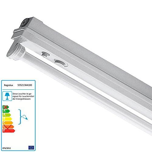 Regiolux Feuchtraumleuchte freistrahlend Leuchtstofflampen 1x36 Watt EVG Sparleuchte (Wand-vorschaltgerät)