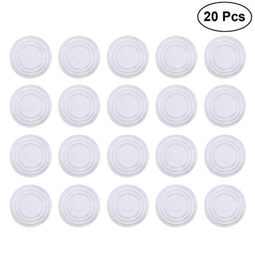 Glas-stuhl-matte (OUNONA Möbel-Anti-Rutsch-Füße Pads Glas-Bodenschutz Anti-Rutsch-Matten 20 Stück)