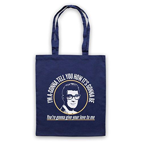 Inspiriert durch Buddy Holly Not Fade Away Inoffiziell Umhangetaschen Ultramarinblau