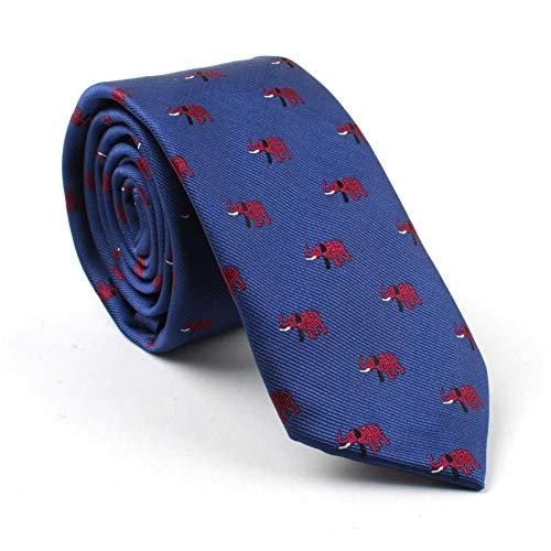 KYDCB Männer Krawatte 6 cm Dünne Krawatten Für Herren Tier Muster Krawatten Corbatas Gravata DünneKrawatte GeschäftsHochzeit Cravate Homme Burgund
