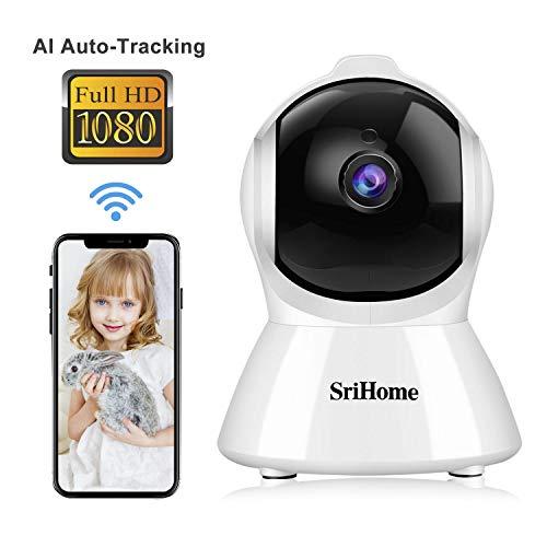 Caméra de Surveillance WiFi Intérieur, Srihome SH025 Caméra IP WiFi 1080P avec Détection de...