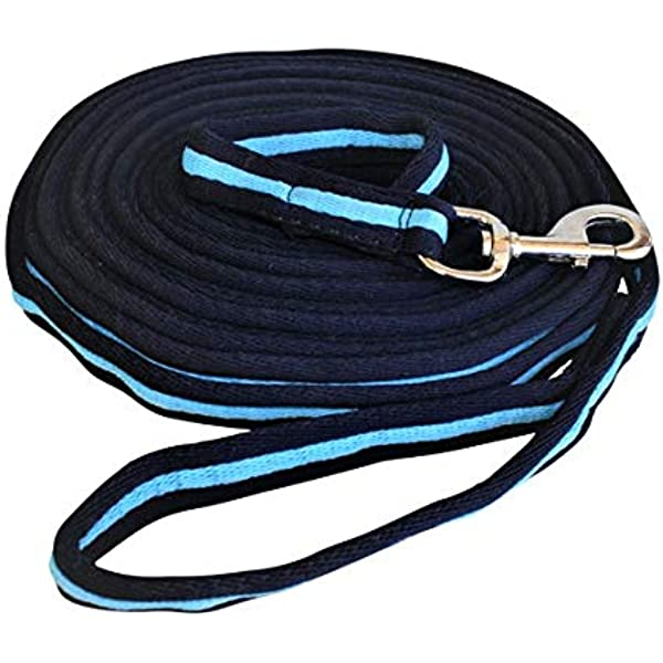 Red Rhinegold Nylon Lunge Rein Lunge Line Black Navy Blue or White With Clip