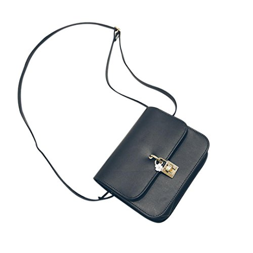 BZLine® Frauen Vintage Casual Handtaschen Women Clutch Party Tasche Umhängetasche, 19cm *15.5cm *6cm (Lila) Schwarz