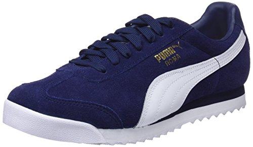 Amazon Puma Roma Suede, Zapatillas Unisex Adulto, Azul (Peacoat-Puma White-Puma Team Gold-Amazon Green), 38 EU