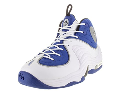 Nike Air Penny II, Scarpe da Basket Uomo Multicolore (Azul / Negro / Plateado / Blanco (Cllg Blue / Blk-Mtllc Slvr-White))