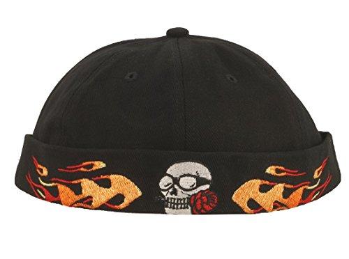 Cap COCO-Caps - ChillOuts schwarz mit Totenkopf / Flammen