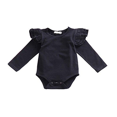 Brightup 2018 Baby Mädchen Frühling Sommer Outfits, Langarm-Spielanzug Zerzauste Body One-Piece Overall Kleinkind Kleidung Set (Floral Langarm Body)