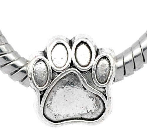 1x-antique-silver-paw-charm-bead-will-fit-on-pandora-troll-chamilia-european-type-bracelets-11mm