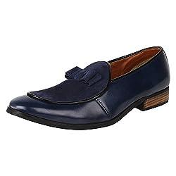 Lujo Eminence handmade Bow Shoes - Blue