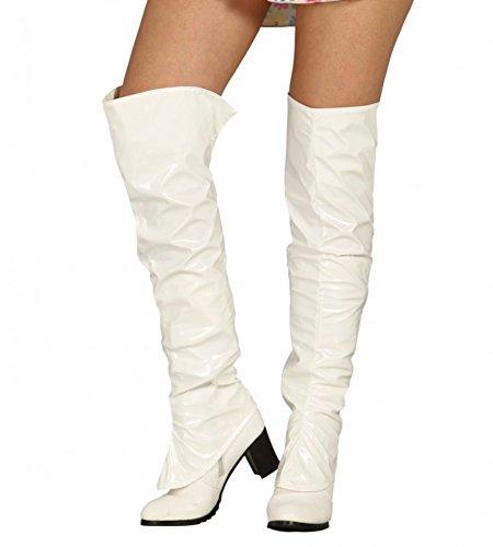 Fiestas Guirca GUI18478 - Weisse Boots, 1 (Mais Sexy Kostüme)