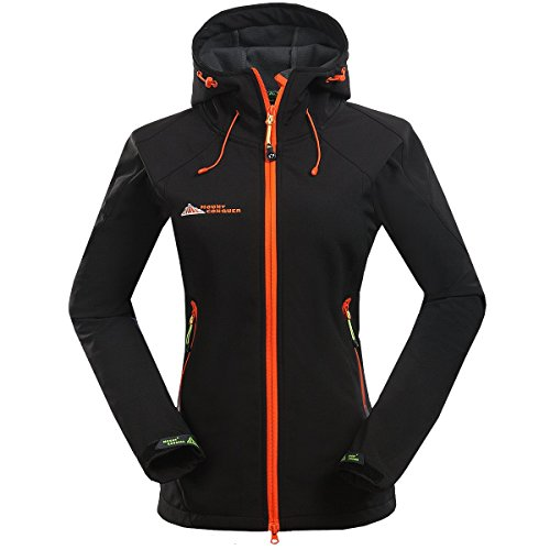 Mount Conquer Women s Softshell Fleece Lined Windproof Water Resistant Outdoor  Jacket Breathable Sport Camping Hiking Coat b7d9dffa7642