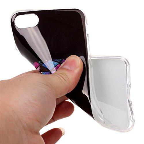 WYSTORE Apple iPhone 7 Case Silicone Coque Souple Transparente TPU Silicone en Gel Case Premium Ultra-Light Ultra-Mince Skin de Protection Pare-Chocs Anti-Choc Bumper pour Apple iPhone 7- B1 Z1