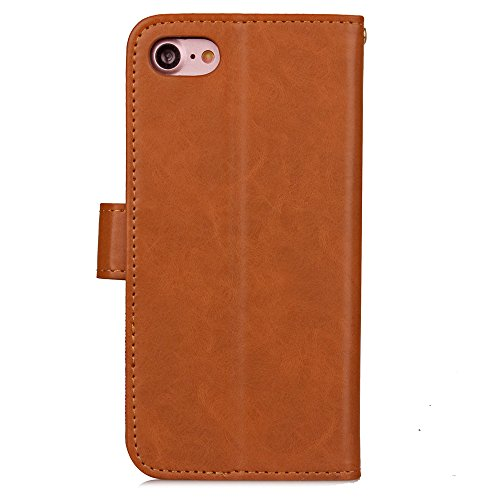 iPhone 7 Plus Custodia in Pelle,iPhone 7 Plus Cover Portafoglio,Cozy Hut ® Cowboy ondulato Disegni Leather / PU Flip Wallet Libro Bookstyle Con Chiusura Magnetica Slim Sottile Shockproof