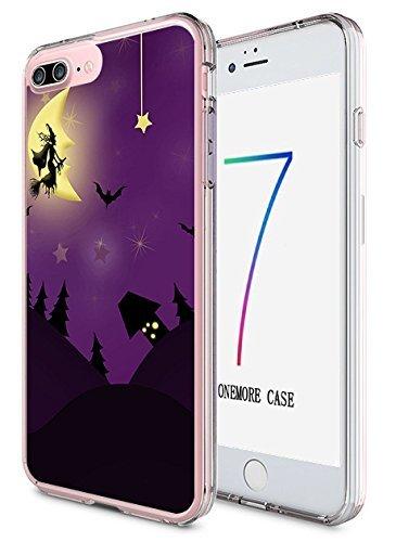 iPhone 8Plus, iPhone 7Plus Hard Cover 14cm Ultra Slim Dünn Happy Halloween, Style-1 (Happy Halloween Einfach Super)
