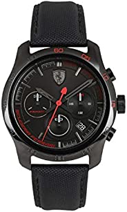 Ferrari Men's Black Dial Nylon Band Watch - 83