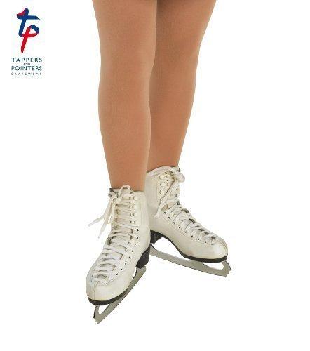 Tappers & Pointers Mädchen/Kinder mit Fuß Eislauf Strumpfhosen 4-14 Jahre – Dunkel Bräune, natürlich - Beige, 12-14 Years