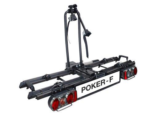 Preisvergleich Produktbild Eufab 12010LAS Fahrradträger: Kupplungsträger Poker-F (ehemals Raven) klappbar, für 2 Räder